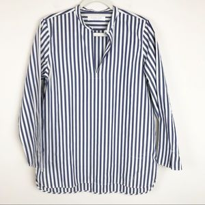 Everlane Blue & White Blouse Size 10